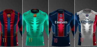PSG, Barcelone, maillots