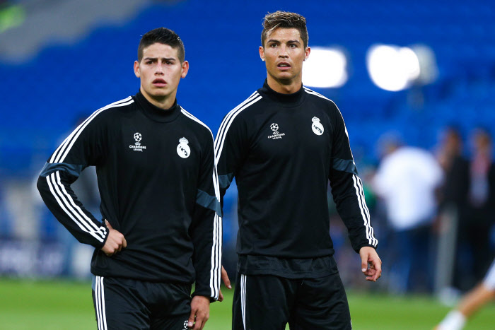 cristiano ronaldo, james rodriguez, real madrid